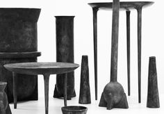 RICK OWENs objects at Oliver Gustav Studio