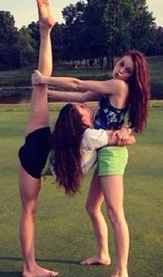 Cheerleading, stretching your flyer, best friends