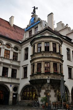 The Hofbräuhaus am Platzl in Munich was founded in 1589 by the Duke of Bavaria, Wilhelm V. It is one of Munich's oldest beer halls. It was originally the brewery to the old Royal Residence, which at that time was situated just around the corner from where the beer hall stands today.