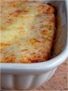 ...konyhán innen - kerten túl...: Klasszikus lasagne házi tésztával és sugoval