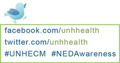 Get Social! #UNHECM  Eating Concerns Awareness Week returns to UNH starting February 24, 2014
