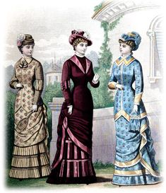 1881 May Victorian Dresses - Badminton Dress, Afternoon Visiting Toilette and Carriage Toilette