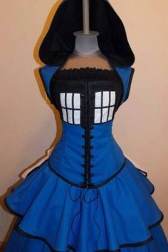 Possible halloween costumes on pinterest corset costumes for Doctor who themed wedding dresses