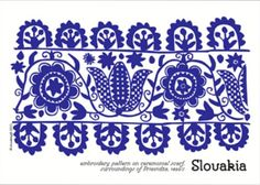 Slovakia design Adult Crafts, Sugar Art, Islamic Art, Shibori, Drake, Embroidery Patterns, Pattern Design, My Love, Pictures