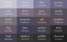 Color Names Now In Grant Order