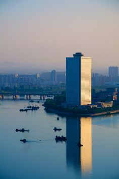 Yanggakdo Hotel, Pyongyang | North Korea (by Shining75)