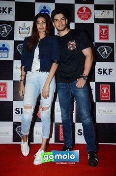 Athiya Shetty & Sooraj Pancholi at the Promotion of Hindi movie 'Hero' at Mithibai College in Vile Parle, Mumbai