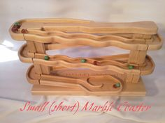 Wood TOY assembly game puzzle Marble Coaster by Creativewoodmaster, $49.00