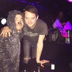 Went to see Elijah Wood DJ while dressed as Wilfred