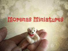 'Bertie' Bear 1:12 scale Needle Felt.....Artist Morena Miniature