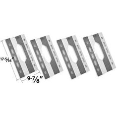 Shop 4 Pack Stainless Steel Heat Shield for Harris Teeter 210001 Gas Grill Models Stainless Steel Heat Shield Grill Parts Ga. Bbq Grill Parts, Bbq Parts, Bbq Galore, Grill Brands, Glen Canyon, Burner Covers, Grill Accessories, Costco, Grilling