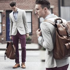 Zara Blazer, Spadari Shirt, H Pants, Coach Backpack, Aldo Shoes #fashion #mensfashion #menswear #style #outfit