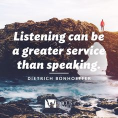 Listening can be a greater service than speaking - Dietrich Bonhoeffer Quote, Inspiration, encouragement