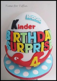 Kinder egg cake  by Time for Tiffin