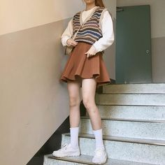 Korean Girl Fashion, Ulzzang Fashion, Indie Fashion, Cute Fashion, Fashion Fall, Teen Girl Fashion, Asian Fashion, Indie Outfits, Korean Outfits