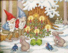 Gnome & Critter Christmas - Angela Pullen (designer) - stitch count 140w x 113h