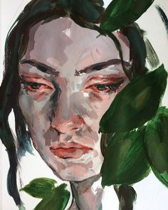 Tropics by Elly Smallwood Abstract Portrait, Portrait Art, Elly Smallwood, Modern Art, Contemporary Art, Eye Painting, Guache, A Level Art, Portraits
