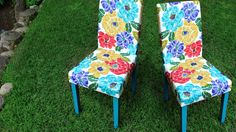 NO SEW Upholstered Chairs!  So much easier than you think.