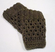 crotchet+boot+cuff | Hand Crochet Boot Cuffs in Brown Fisherman's ... | TeamDream from Ets ...