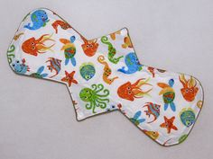 "14.5"" Heavy - Sea Life - Reusable Cloth Menstrual Pad (14HC)"
