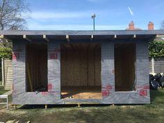Garden Room Installation Morag April 2018 | Bridge Timber Garden Rooms Sip House, Wood Shed Plans, Garden Office, Garden Buildings, Garden Inspiration, Man Cave, Extensions, Dan, Bridge