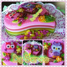 #gelatina de #buos #owls #bysarae