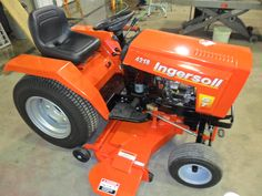 My next tractor - Ingersoll made in the USA Lawn Mower Tractor, Lawn Tractors, Garden Tractor Attachments, Small Tractors, Utility Trailer, Hobby Farms, Parcs, Lawn And Garden, Country Life