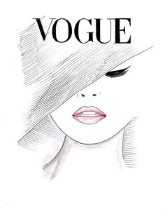 Print Watercolor Pink Lips Vogue Poster, Fashion Illustration Vogue Face Cover Hand Drawn, Black and White Fashion Poster by Zoia Fashion Illustration Print Vogue Vogue Face Cover by Zoia Mode Vintage Illustration, Face Illustration, Watercolor Illustration, Black And White Hats, Black And White Posters, Motivational Wall Art, Inspirational Posters, Vogue Covers, Pink Lips