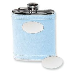 Stainless Steel Faux Leather Light Blue Flask Jewelry Adviser Gifts. $31.25. Save 60%!