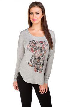 Floral Elephant Sweatshirt #eclipse