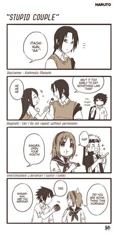 smartchocobear: 100+ followersss, thank you very much! o(≧∇≦o) Since I saw people like my NARUTO doujins, I decided to make one as my gratitude to you all (。・ω・。)ノ♡ Oh yeah, I love SasuSaku and ItaIzu recently, please bear with me. I might draw them more later.