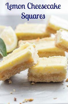Lemon Cheesecake Squ