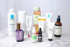 I talk about skincare enough here that I thought it was about time I took  you through my full routine. I do a pretty similar thing in the morning and  the evening but with a few key changes, so I thought rather than split this  into morning and evening I'd just talk about the different types of  products I use for each step and why. Because this post is so long I  haven't gone into treatments or masks, etc so I might save all that for  another time.  For some this may seem like a lot of…