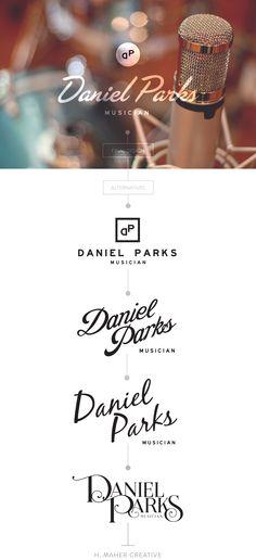 Retro masculine identity & logo design for Daniel Parks, Musician // by H. Maher Creative