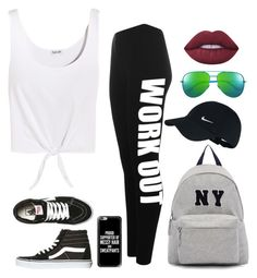 """""""Sporty Vibe"""" by coco-1monroe on Polyvore featuring Splendid, WearAll, Vans, Joshua's, NIKE, Yves Saint Laurent, Casetify and Lime Crime"""