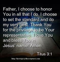 Prayer To Honor God