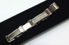 Damen+Herren+Edelstahl-Armband+KristallsteinSA224+von+Atelier+Regina++auf+DaWanda.com