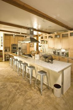 industrial, rustic chic kitchen