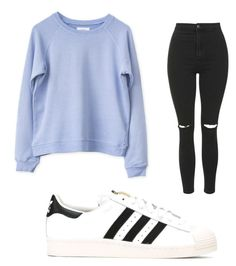 """Geen titel #31"" by hibatje on Polyvore featuring mode, Topshop en adidas"