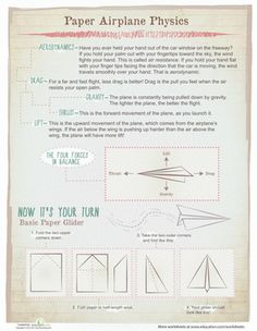 Fifth Grade Physical Science Worksheets: Paper Airplane Physics Worksheet WEEKS 15-18