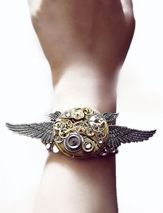 'Clockwork Angel'  Steampunk cuff bracelet