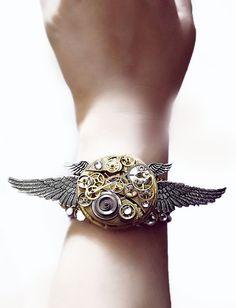 'Clockwork Angel'  Steampunk cuff bracelet