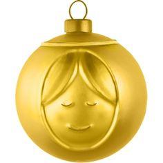 Alessi kerstbal Madonna Goud