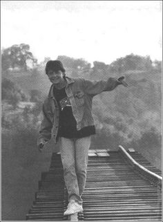 "Behind the scenes, 'Back to the Future Part III"" Fox walks the rails."