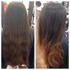 Before and after ombré work by #JoLsalon