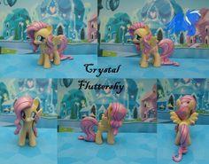 Beautiful Custom Crystal Fluttershy Pony