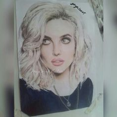 #PerrieEdwards #drawing #colour #portrait