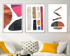 Abstract Art Prints Modern Wall Art Boho by MinimalDigitalArts