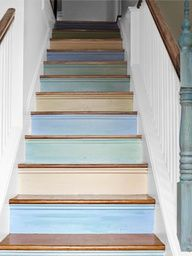 21 best stencilled stairs images on pinterest painted