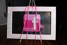 Facebook Bat Mitzvah Sign-in Board by Flower Power Designs - mazelmoments.com